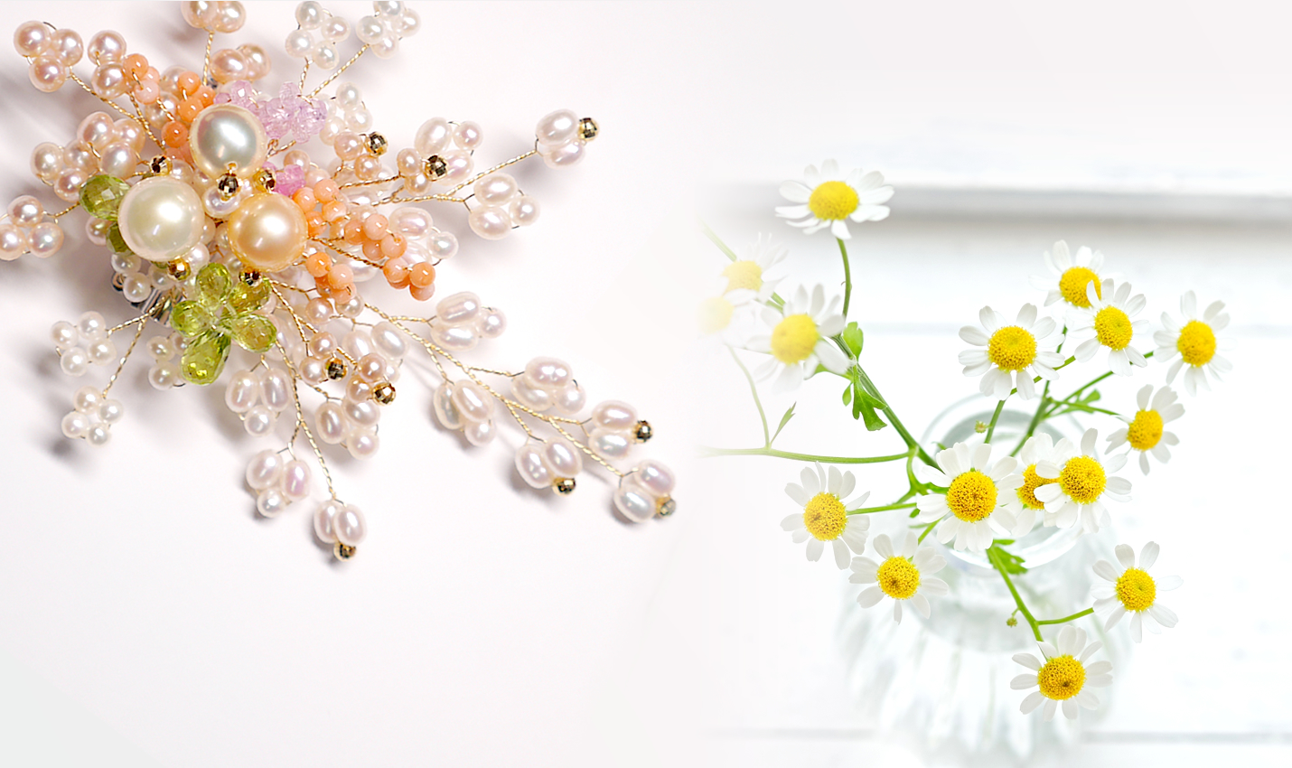 slider:Original jewellery inspired by small flowers in the field.